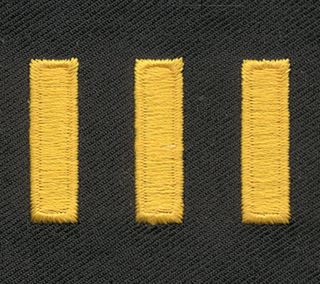 Gold/ Mdnght Navy Straight Hash Mark, Twill